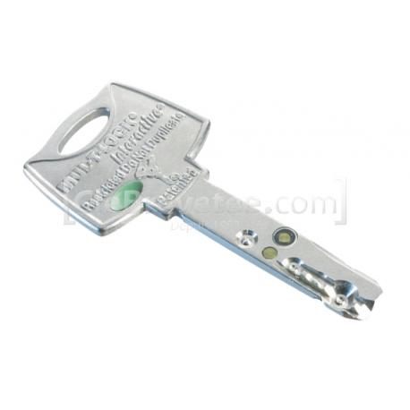 Reproduction clé Mul-t-lock Interactive Maillechort originale sur numéro  55€ TTC