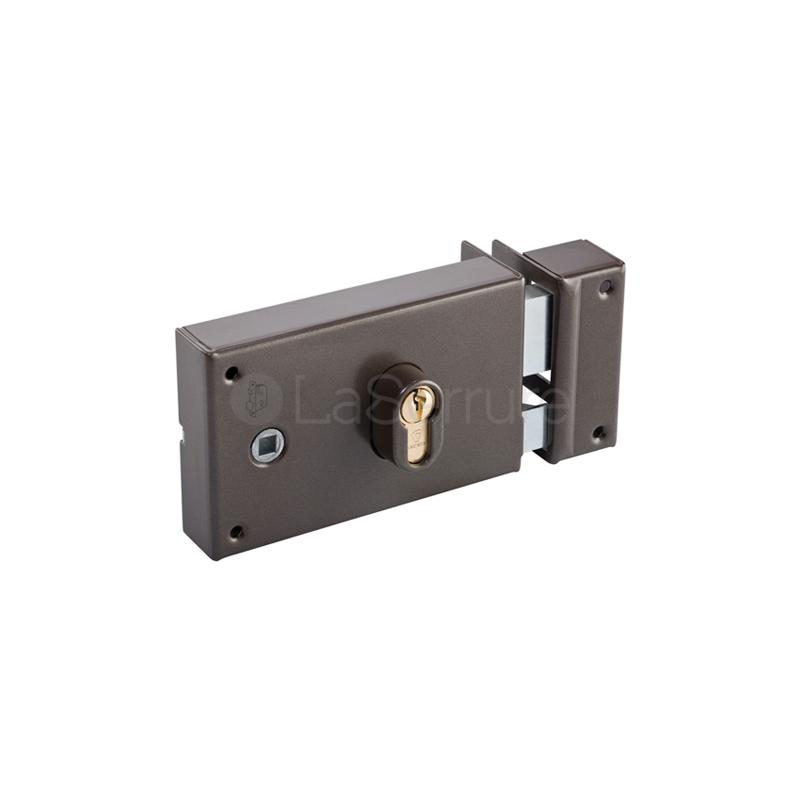 Serrure de porte vachette en applique monopoint - Serrure porte coulissante en applique ...