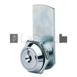 Barillet pour meuble métallique - court - 1/4 tour sans batteuse