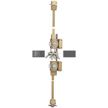 Verrou de sûreté Zénith 1550 - haut et bas - à bouton - 4 points - à cylindre CITY 5G