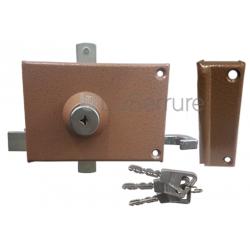 Mécanisme Bricard supersureté 3 points pour serrures 3 points en applique horizontale à tirage gauche -1001022