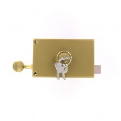 Sérrure JPM VEGA  1 points  horizontale à tirage DROITE clés plattes - 120300-012A - 3 clés - 45mm