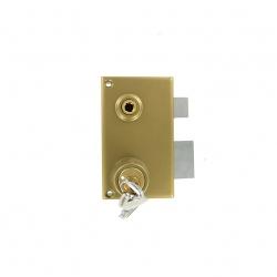 Sérrure JPM VEGA 1 points  verticale à fouillot DROITE clés plattes - 121100-012A - 3 clés  45mm