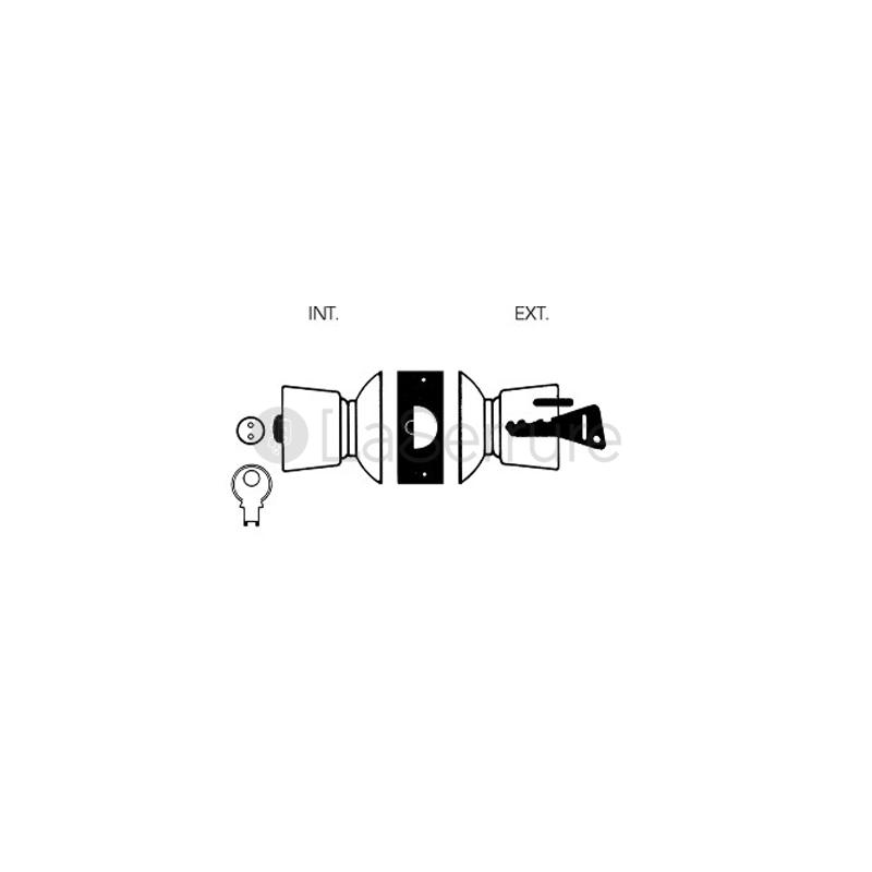 serrure vachette tubulaire v60 cylindre v5. Black Bedroom Furniture Sets. Home Design Ideas