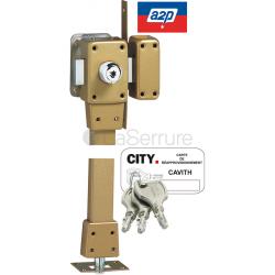 Verrou Cavith Évolution 1433 - bas-côté - à 2 entrées - 2 points - 8 goupilles - Pour porte jusqu'à 45mm