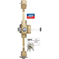 Verrou Cavith Évolution 1410 - haut-bas - à bouton - 2 points - 8 goupilles - Pour porte jusqu'à 45mm
